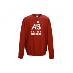 Sweat col rond gris ou rouge
